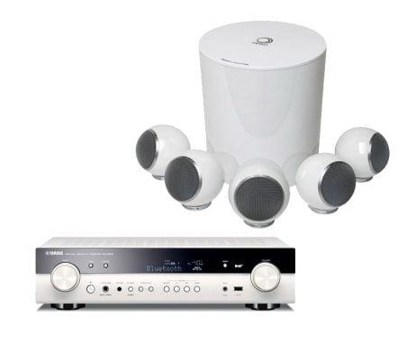 yamaha receiver slim in dizajnerski zvočniki